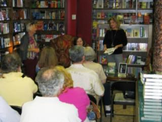 Emily (seated) & Joanne Sinchuk (standing) at Murder on the Beach, Delray, FL Signing